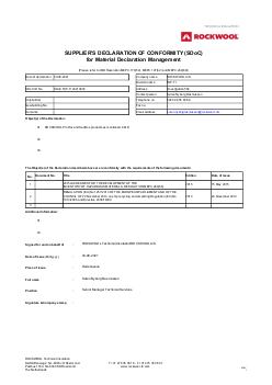 Rockwool Technical Insulation Certificates Lloyd S